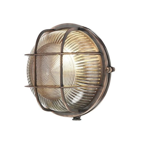 David Hunt Lighting, Admiral Round Flush Antique Copper, ADM5064 (Hand made, 7-10 day Delivery)